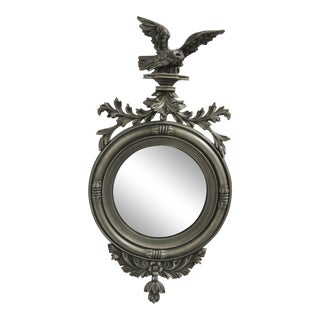 Federal Silver Gilt Eagle Bullseye Mirror For Sale