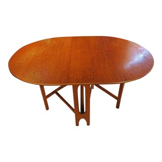 1960s Mid-Century Modern Drop Leaf Table For Sale