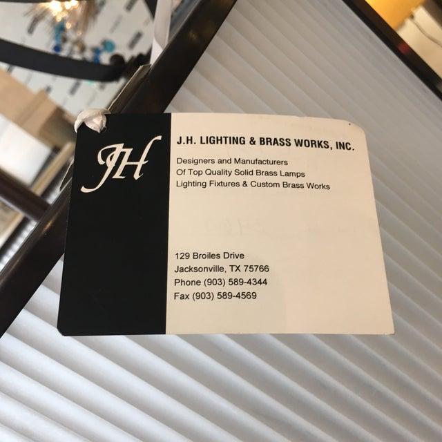 Gold j.h. Lighting & Brass Works Pendant For Sale - Image 8 of 11