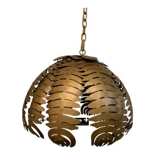"Niermann Weeks Bronze New ""Palm"" Pendant by Amanda Nisbet For Sale"
