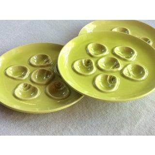 Vintage Mid-Century French Porcelain Escargot Plates - Set of 3 Preview