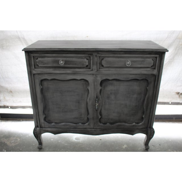 20th Century French Gray Oak Cabinet For Sale - Image 9 of 9