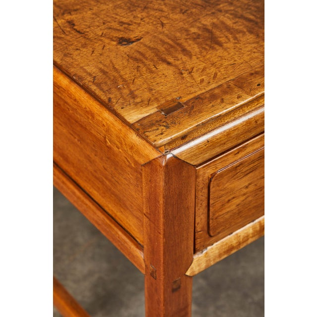 Early 20th C. French Colonial Tigerwood Console For Sale In Los Angeles - Image 6 of 10