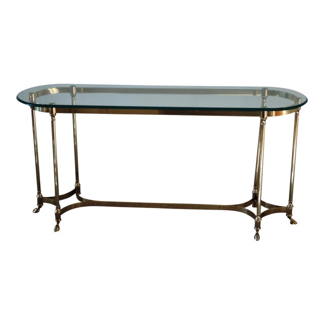 1960s La Barge-Style Brass Console - Image 1 of 7