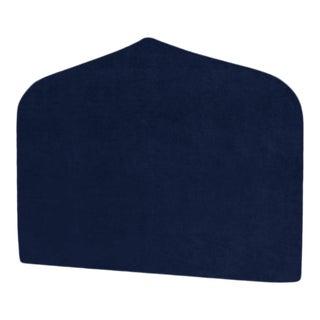 The Crown Headboard - King - Charlotte - Luxe Velvet, Prussian Blue For Sale