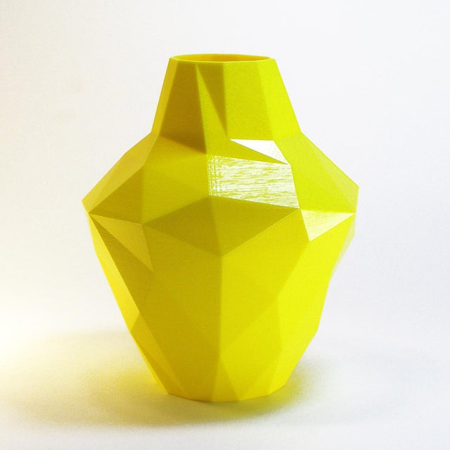Redux Polygon Accent Vase, Electric Yellow - Image 4 of 4