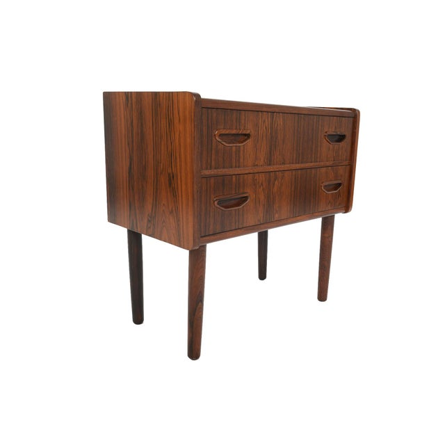 Danish Modern Two Drawer Rosewood Chest - Image 8 of 9