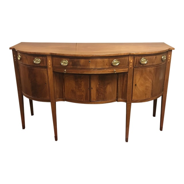 Mid-Atlantic Serpentine-Front Mahogany Sideboard For Sale