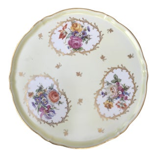 Vintage Limoges Collectible Hand-Painted Plate For Sale