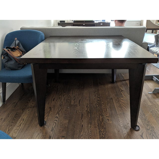 Mid Century Modern West Elm Angled Leg Expandable Dining Table