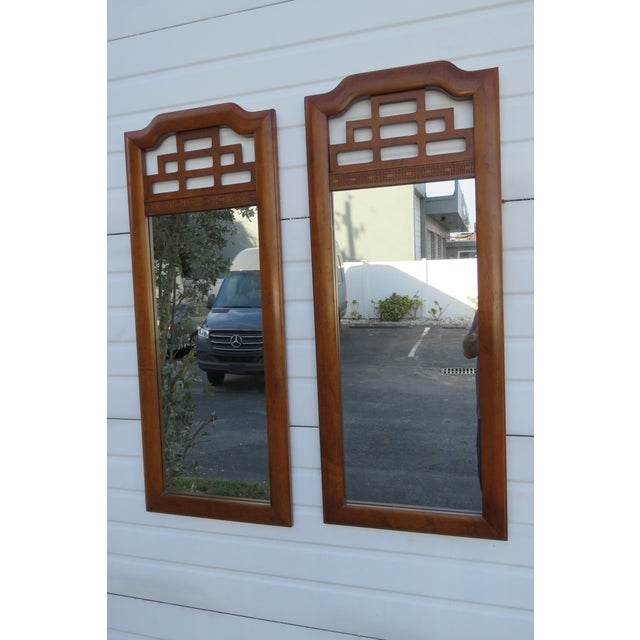 These classic Mirrors are made out of wood, mirror, and they are in good condition. The mirrors have Hollywood Regency...