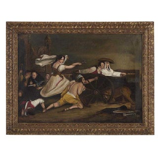 Early 19th Century Antique Sir David Wilkie Oil on Canvas Painting For Sale