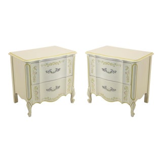 Henry Link Vintage French Provincial Style Nightstands- A Pair For Sale
