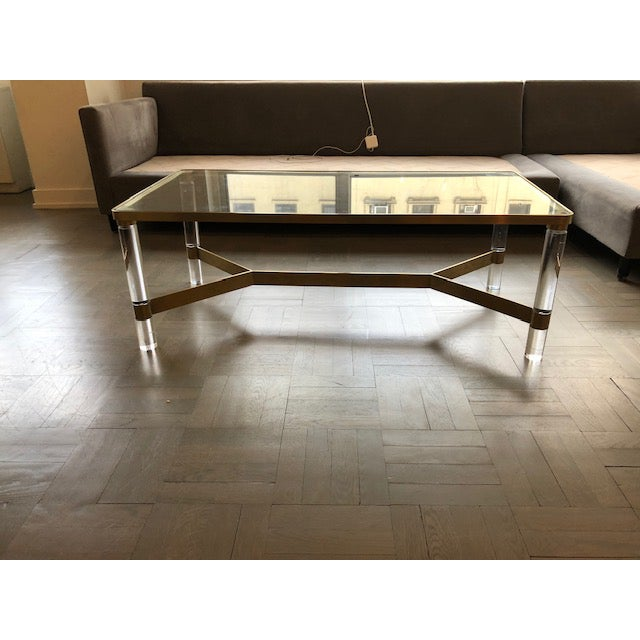 Safavieh Acrylic Coffee Table For Sale In New York - Image 6 of 7