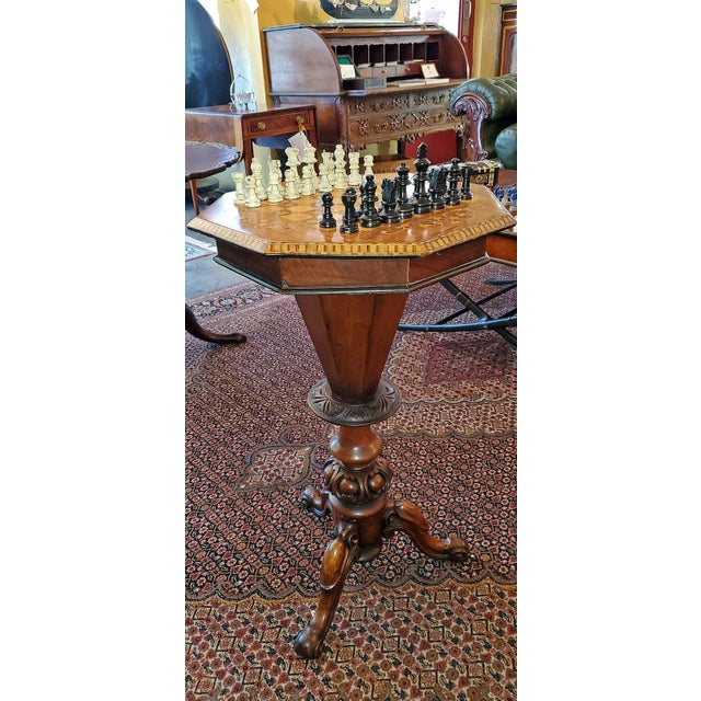19th Century British Games Top Trumpet Shaped Table For Sale - Image 11 of 12
