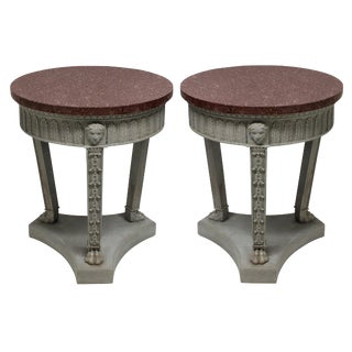 A Pair of Neo - Classical Sofa Tables For Sale