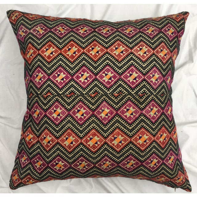 Antique Dragon Back Wedding Quilt Pillow - Image 2 of 7