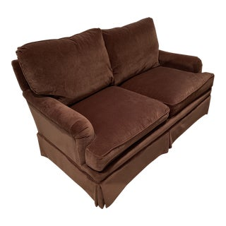 Vintage Chocolate Loveseat For Sale