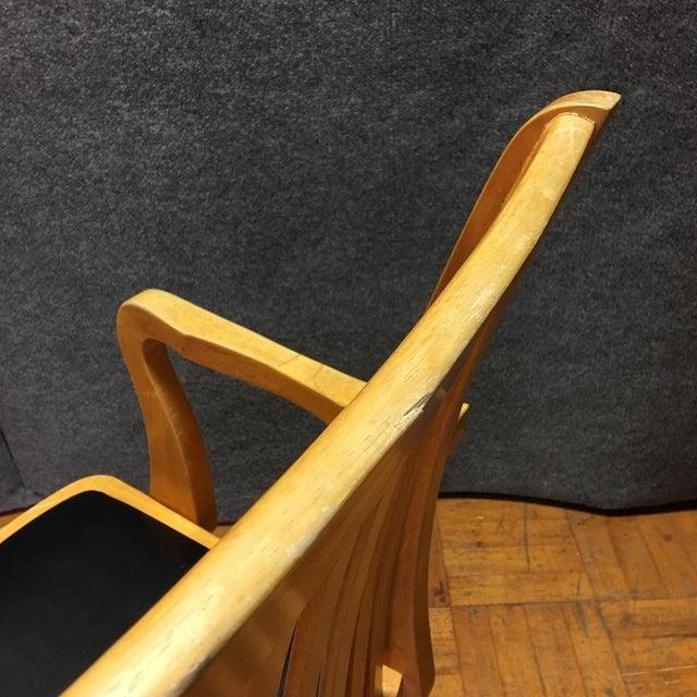 Adjustable Wood Banker's Desk Chair - Image 7 of 8