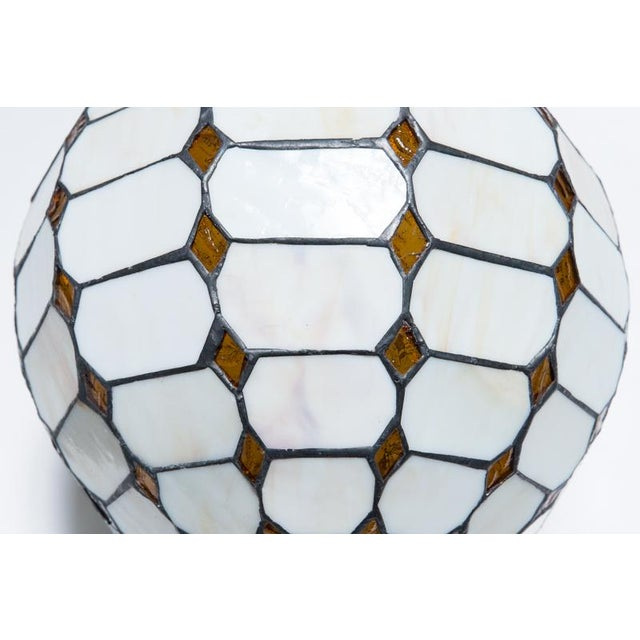 Leaded Stained Glass Globes - a Pair - Image 6 of 7