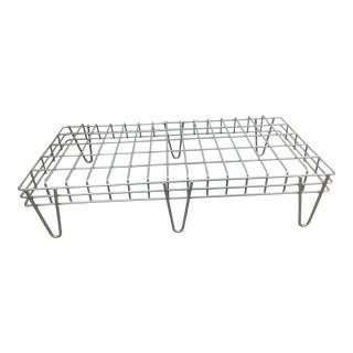 Aluminum Colored Iron Coffee Table For Sale
