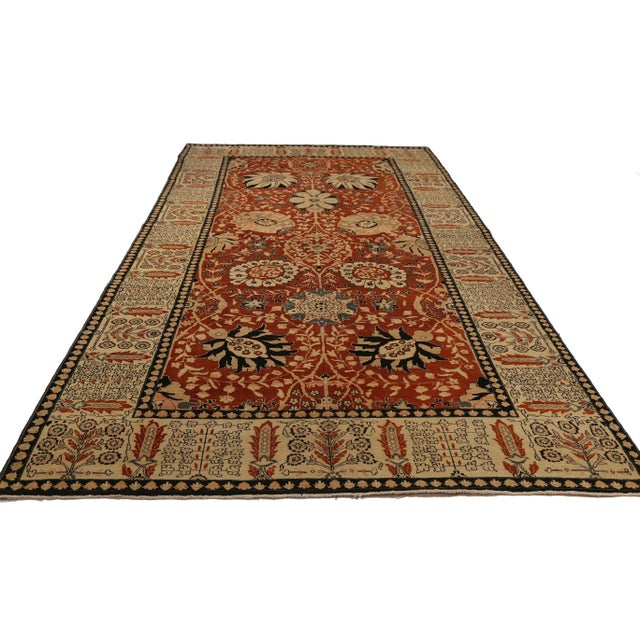 Contemporary Turkish Tabriz Design Rug - 6′5″ × 13′10″ For Sale - Image 4 of 5