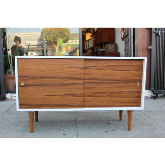 While Lacquered Credenza For Sale - Image 11 of 13