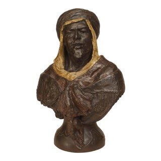 Moorish Bronze Man Bust For Sale
