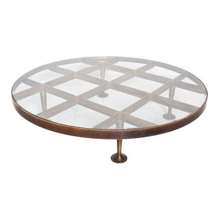 Mid Century Mexican Modernist Arturo Pani, Coffee Table in Bronze For Sale