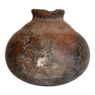 Pre-Colombian Ceramic Pottery Large Vessel For Sale
