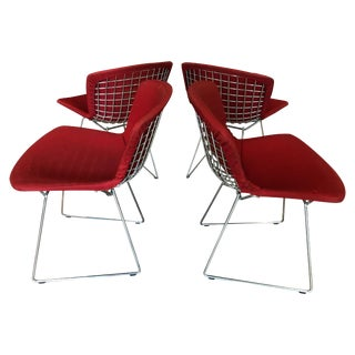 Set of Four Vintage Bertoia Chairs For Sale