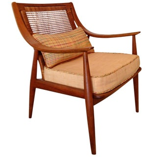John Stuart for Widdicomb Caned-Back Armchair For Sale