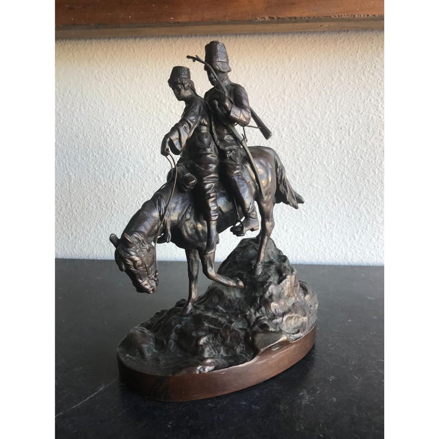 Bronze Russian Statue signed A.M. Bonegor. Great detail.