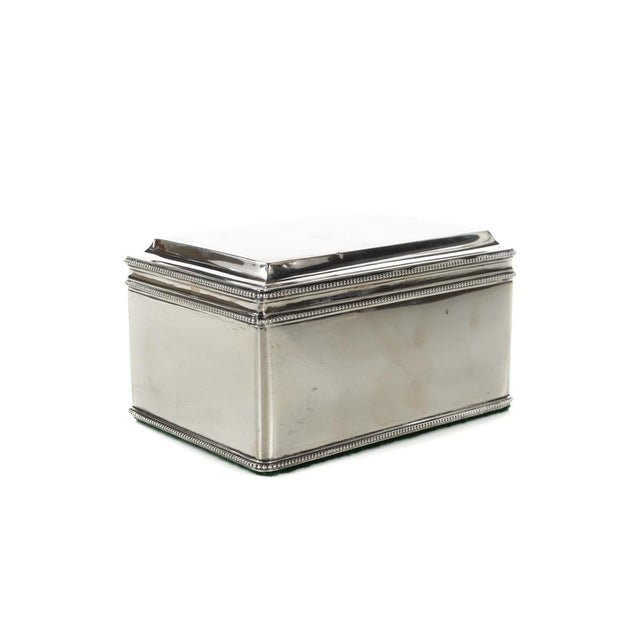 """Dutch Silver Biscuit Box Mark of Bonebakker and Zoon 1874 - Rare size 3 x5"""" A beautiful piece that will add to your décor!"""