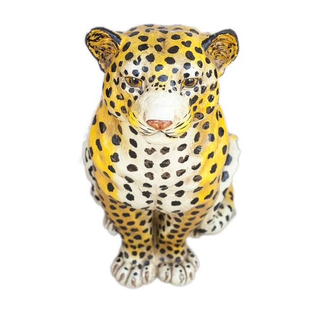 Mid-Century Ceramic Leopard - Image 9 of 10