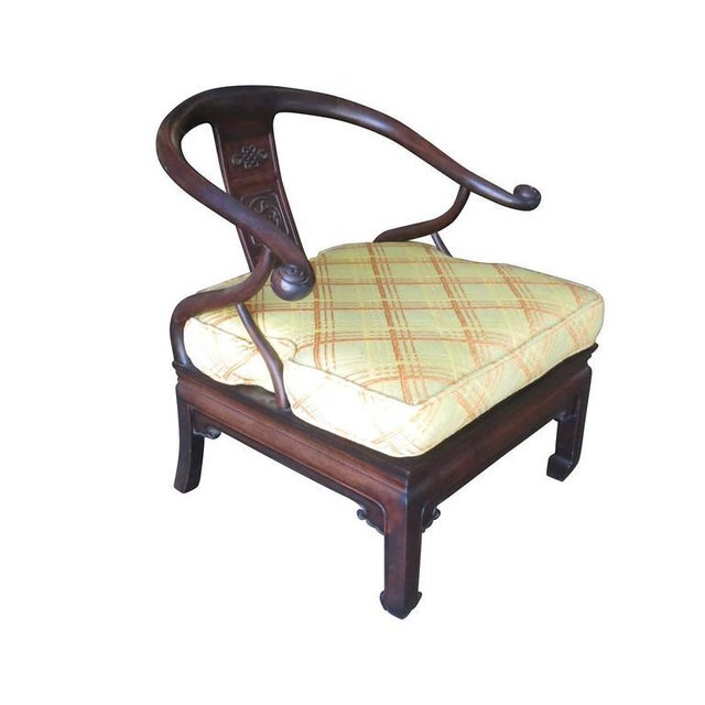 James Mont Style Horseshoe Lounge Chairs, Pair - Image 6 of 10