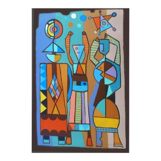 """1970s Vintage Mayeu Passa """"The Jugglers"""" Hand Signed Artist Proof Lithograph For Sale"""