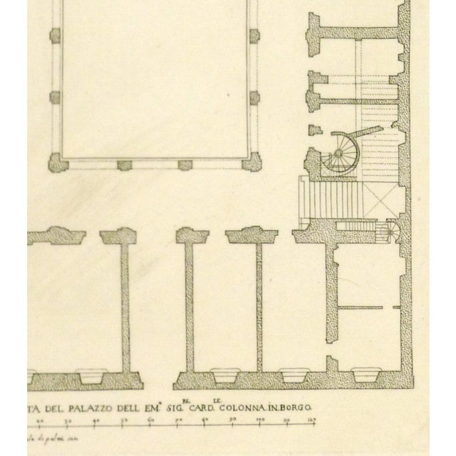 Antique Italian Architectural Engraving, 1650 - Image 2 of 3
