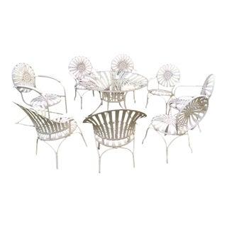 Francois Carre Sunburst Patio Table & Chairs - Set of 9
