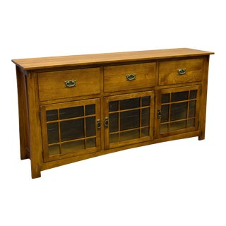Crafters and Weavers Craftsman Style Quarter Sawn Oak Sideboard For Sale