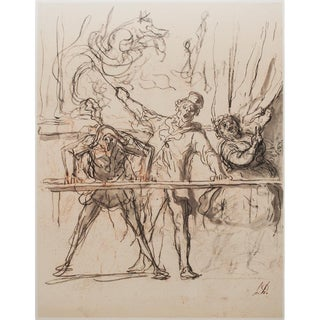 1959 English Traditional Lithograph, Circus Parade by Honoré Daumier