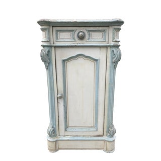 19th Century Antique French Country Painted Cabinet For Sale