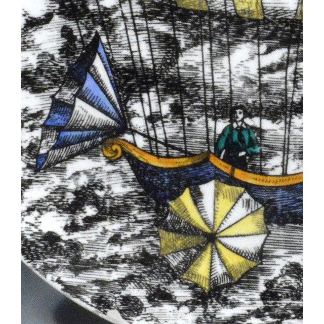 Italian Piero Fornasetti Hot Air Balloon Plate #6 For Sale - Image 3 of 5