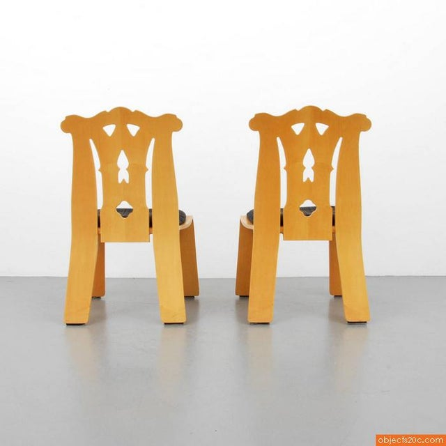 1980s 1980s Chippendale Robert Venturi Side Chairs - a Pair For Sale - Image 5 of 7