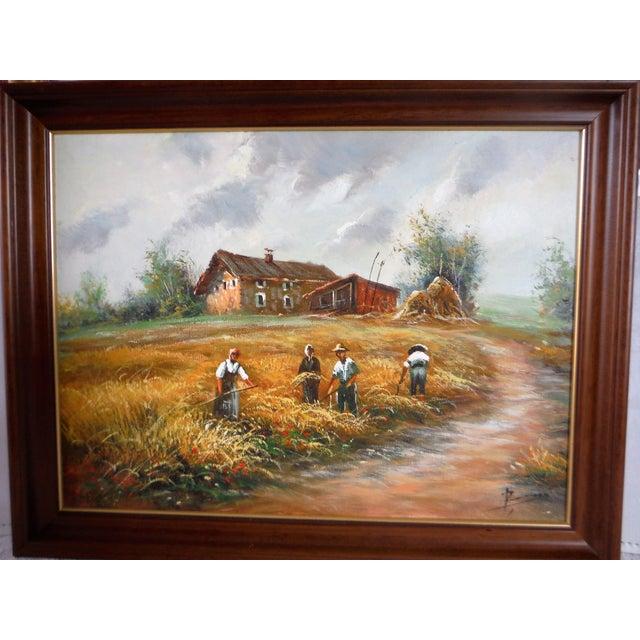 Farmhouse Harvest Original Oil on Canvas - Image 6 of 8