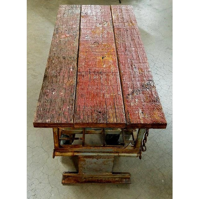 Old Industrial Cart Coffee Table: Upcycled Old Metal Cart Industrial Coffee Table