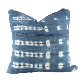 Brass Cat Eye Mudcloth Pillow Multiple Sizes For Sale
