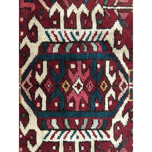 "Vintage Karajeh Persian Runner - 3'8"" X 9' - Image 9 of 9"
