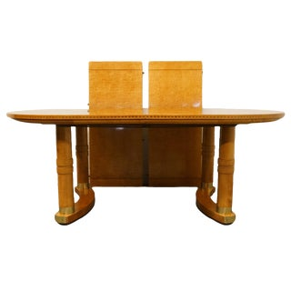 """20th Century Traditional Hickory White Genesis Collection 117"""" Dining Table For Sale"""