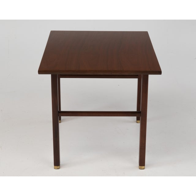 Mid-Century Modern Cantilevered Dunbar Side End Table Edward Wormley 1960s Marked For Sale - Image 3 of 12